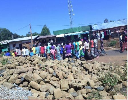 #OromoProtests 4th round@ Wara Jiru town, Najo District , December 14, 2015
