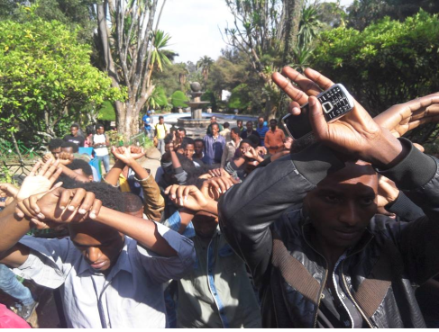 OromoProtests @Finfinnee University Dec. 7, 2015 picture2