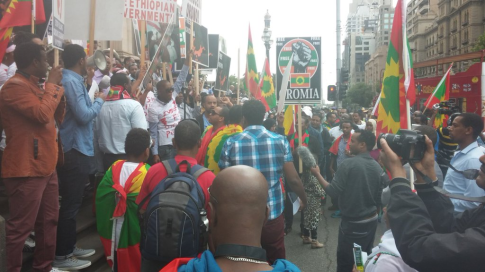 #OromoProtests global solidarity rally, Australia (Melbourne0, 11 Dec. 2015