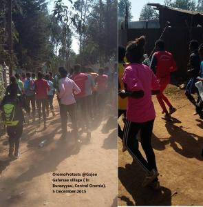 OromoProtests @Gujee Gafera village ( in Buraayyuu, Central Oromia). 5 December 2015