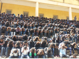 #OromoProtests, Haromaayyaa University students mourning in protest of master plan, 9 December 2015