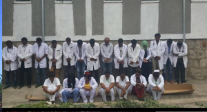 #OromoProtests, healthcare professionals at Bishoftu hospital saying No! to the Master Plan, 14 December 2014