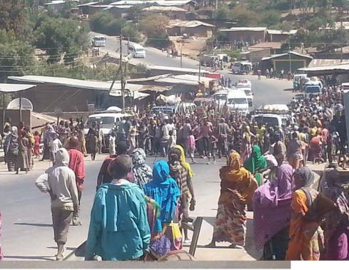 #OromoProtests @ Lagayye town E.Haraghe, 12 December 2015