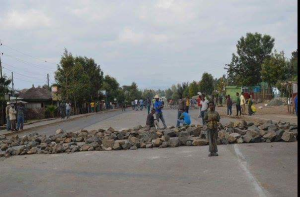 #OromoProtests @sululta, Rd Blocked at 50 locations, 17 Dec. 2015
