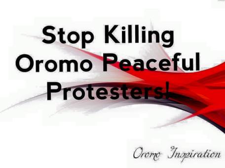 Stop killing Oromo Students
