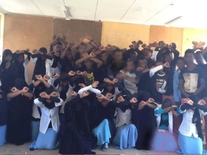 students at Machara High School (West Hararghe) Say No to the Master Plan and the Mass Killings, 29 Dec. 2015