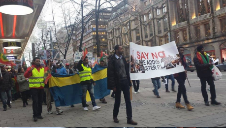 Sweden, Oromo Peaceful rally in solidarity with #OromoProtests Oromia against TPLF Ethiopian regime's ethnic cleansing (Master plan), December 10, 2015, picture2