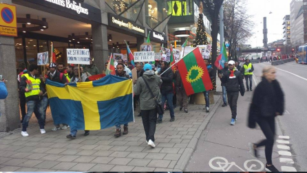 Sweden, Oromo Peaceful rally in solidarity with #OromoProtests Oromia against TPLF Ethiopian regime's ethnic cleansing (Master plan), December 10, 2015