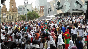 Oromia at Federation Square, Melbourne, Australia, January 3, 2016 p1