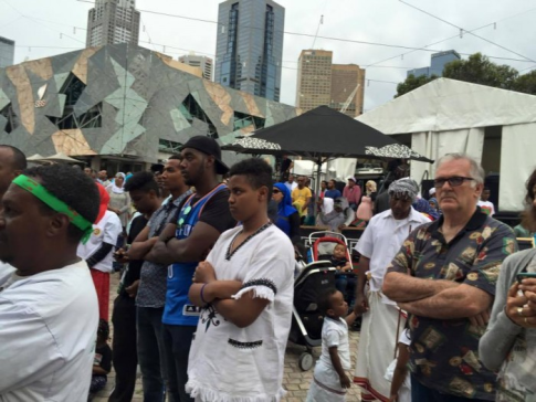 Oromia at Federation Square, Melbourne, Australia, January 3, 2016