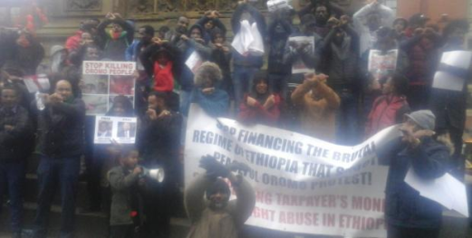 Oromians in Manchester UK  ask Manchester to 'stand with them' in #OromoProtests global rally, 27 January 2016