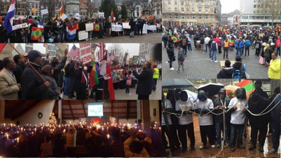 #OromoProtests across the world in support of brothers and sisters backhome.