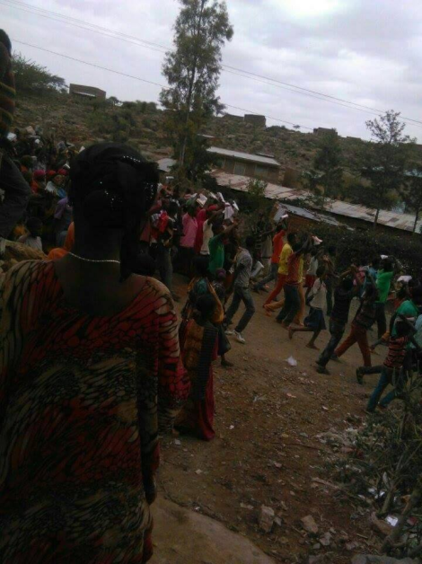 #OromoProtests against TPLF Ethiopian tyranny in Waheel town near Dire Dawa, Hararghe, Oromia (picture2). 19 January 2016