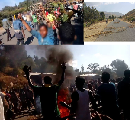 #OromoProtests continue in Hirnaa, Hararghe Oromia, 6 January 2016