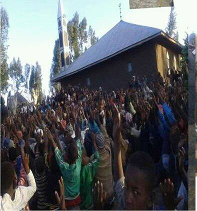 #OromoProtests continues, on 2nd January 2016 at in Tulu Dalo Village, Suude District ( Arsi)