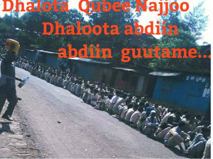#OromoProtests in Najjo, Western Oromia, 2nd January 2016