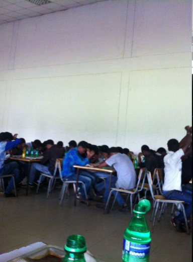 #OromoProtests, Jimma University students boycott food at Gena celebration in cafeteria. 7 January 2016. p1