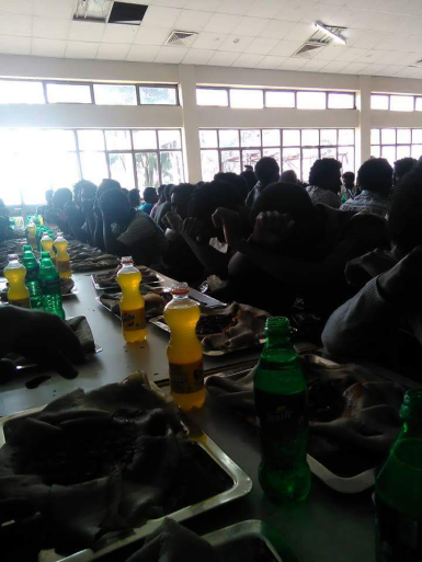 #OromoProtests, Jimma University students boycott food at Gena celebration in cafeteria. 7 January 2016