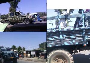 fascist TPLF military and Agazi terrorizing people of Ginci (Ginichi) in Oromia, February 5, 2016