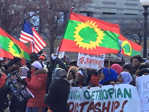 Minnesota's Oromo community rallied at the State Capitol on  29 Feb 2016 in solidarity with OromoProtests in Oromia. p3