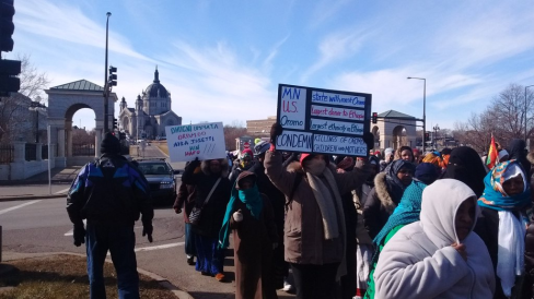 Minnesota's Oromo community rallied at the State Capitol on  29 Feb 2016 in solidarity with OromoProtests in Oromia