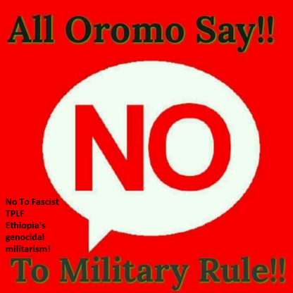 No To Fascist TPLF Ethiopia's genocidal militarism and mass killings in Oromia, Ethiopia