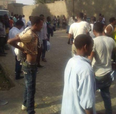 #OromoProtests continues in Shashemene, Arsi, Oromia, 14 Feb. 2016