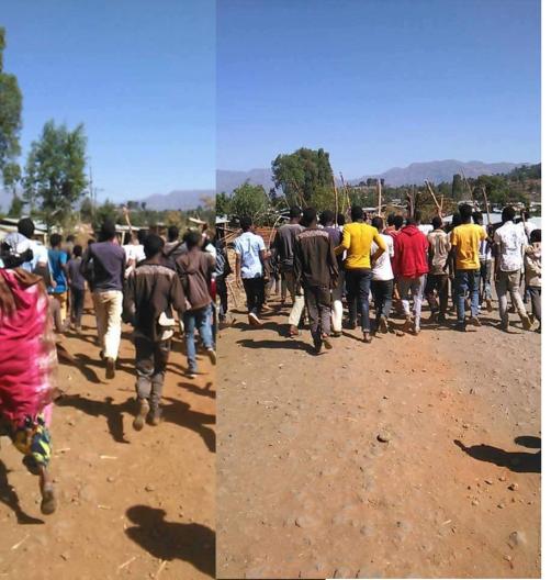 #OromoProtests continues, Lafto town, E. Hararghe, Oromia, 15 Feb. 2016