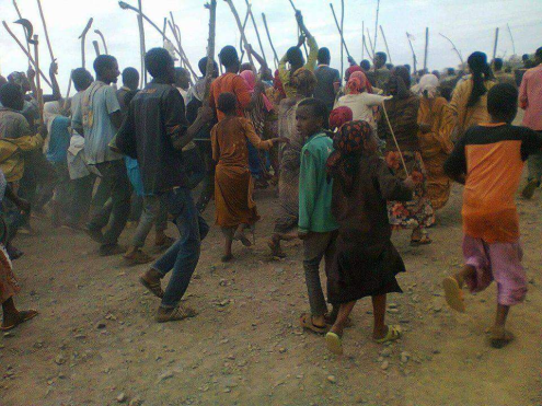 OromoProtests @Defo town, Habro District, West Hararge, Oromia, Feb 26 ,2016