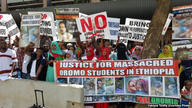 #OromoProtests Global Solidarity Rally, South Africa, 1st Feb. 2016