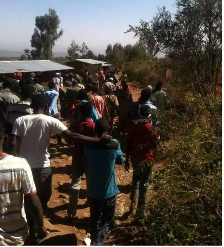 #OromoProtests in Girawaa (Doguu town), E. Hararghe, Oromia, 5 February 2016 p2