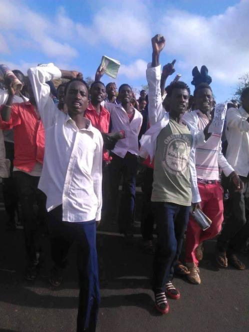 #OromoProtests  in Mega town, Borana, Oromia,  Feb 29, 2016