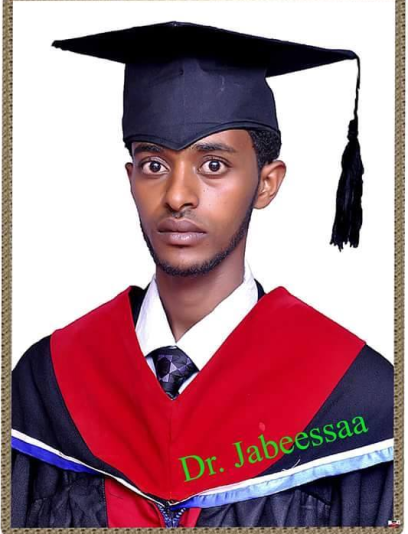 Dr. Jabessa Dhaba, a Vet. general practitioner who was working in Furda town, Bedeno district, E. Harerge zone. The regime arrested him in Bedeno accusing him of involvement in the #OromoProtests movement.