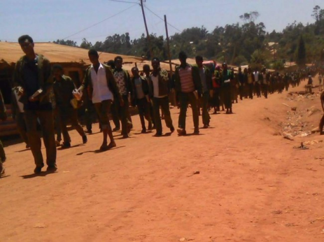 #‎OromoProtests‬ in Horro Guduru Wallagga, Amuru, Oromia, 1st March 2016