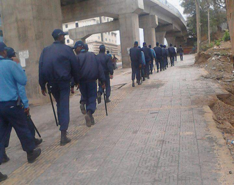 Fascist TPLF forces at Adama University, 14 March 2016.png