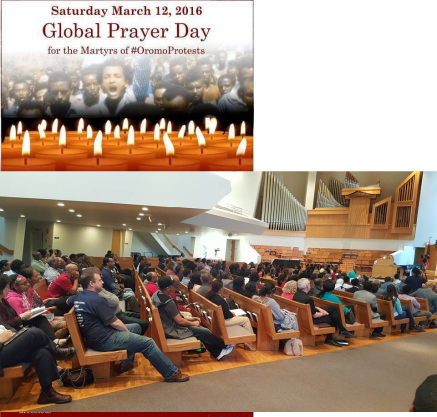 Minnesota, Globaly Prayers Day for the Martyrs of #OromoProtests, 12 March 2016