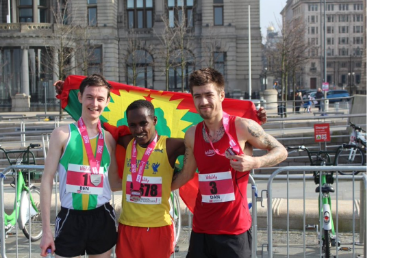 Oromo athlete Dejene Gezimu clinches victory in  the 2016 Vitality Liverpool Half Marathon. p3.png