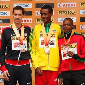 Oromo athlete Yomif Qajeelchaa  cruised to in the world indoor race  in men's 3000m, Portland 2016, 20  March 2016