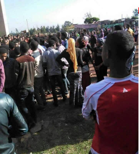 #OromoProtests at Asella Teachers College, 28 March 2016