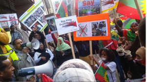 #OromoProtests Global solidarity rally in Calgary, Canada, 11 March 2016.