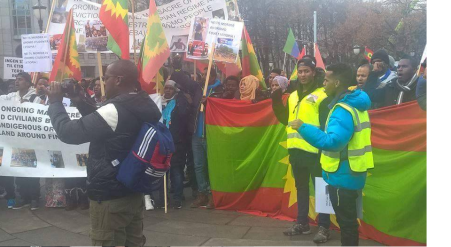 #OromoProtests Global solidarity rally in Oslo, Norway, 11 March 2016.