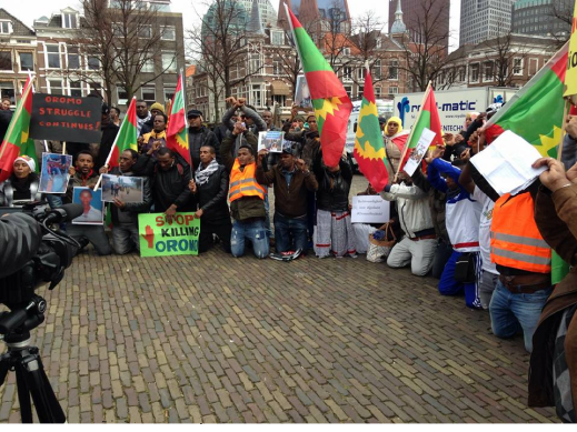 #OromoProtests global Solidarity Rally in The Hague, Netherlands March 22, 2016 p1