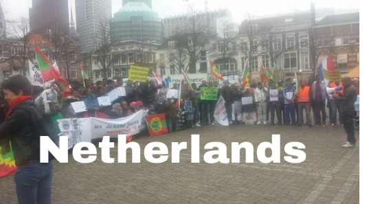 #OromoProtests global Solidarity Rally in The Hague, Netherlands March 22, 2016