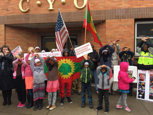 #OromoProtests Global solidarity rally in Upstate, New York, 11 March 2016.