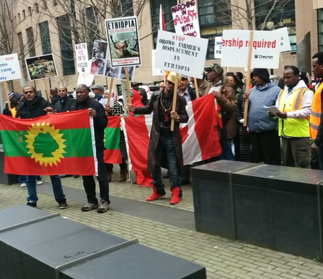 #OromoProtests Global solidarity rally in Vancouver, BC, Canada, 11 March 2016.