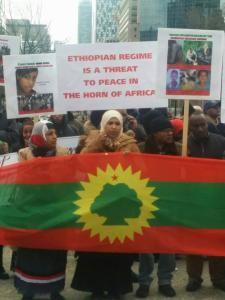 #OromoProtests Global solidarity rally inToronto, Canada, 11 March 2016.