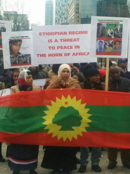 #OromoProtests Global solidarity rally inToronto, Canada, 11 March 2016.