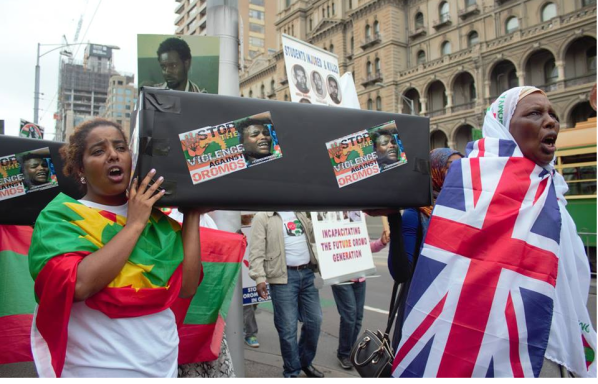#OromoProtests global solidarity rally organised by the Australian Oromo community in Melbourne, 10 March 2016 p2