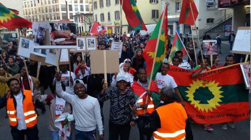 #OromoProtests global Solidarity Rally, Oromo community of Switzerland, March 19, 2016