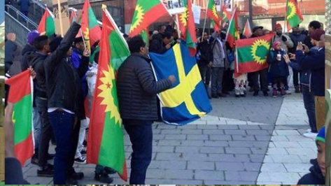 #OromoProtests global solidarity rally, Stockholm, Sweden. 11 March 2016.